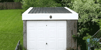 Asbestos Garage roof White flashings
