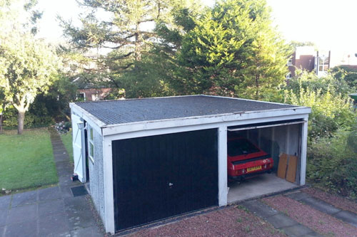 Double garage before