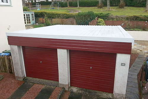 double garage after