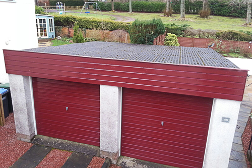 Garage front before